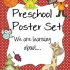 """This is a set of 30 variety topic poster that state, """"We are learning about __________.""""  The topics range from balls, to animals, to weather, to o..."""