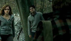 """Original poster says: """"Okay but really, I feel like Harry's face was never appreciated enough in this scene. Here is good ol Harry thinking his best friends are going to be so perfectly reunited. Look at how fucking happy that kid is for them. He's like 'omg this is it. i brought hermione the perfect christmas gift, i'm so set for life. this is their moment'. Poor kid had no clue what was gonna happen in 2 seconds."""" I'd like to think this is Dan knowing that Emma is about to throttle…"""