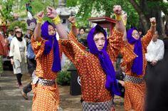 01 Akita Hachirogata town Gannin Dance Japan 2015 2015年5月5日 八郎潟町 一日市神社 大人願人踊り