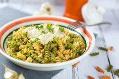 Karfiolos tészta tejmentesen Pasta Salad, Ethnic Recipes, Food, Crab Pasta Salad, Essen, Meals, Yemek, Eten