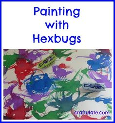 Painting with Hexbugs - including a VIDEO! Cool painting idea from Craftulate