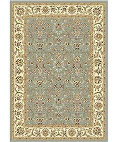 @Overstock - The traditional Persian and European designs of this area rug enhance any living room or home decor. With a floral motif set on light blue background with ivory border, this rug also offers accents of red, green, sage and olive.http://www.overstock.com/Home-Garden/Lyndhurst-Floral-Motif-Greyish-Blue-Ivory-Rug-53-x-76/2241810/product.html?CID=214117 $96.98