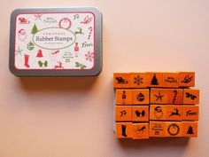 SALE! Mini Christmas Rubber Stamp Set | Paper Pastries