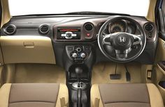 Honda Brio DashBoard the features and styling will impress you the moment you enter inside the car. The car has got spacious legroom and headroom and has a seating capacity of 5 people... for more info: http://www.ecardlr.com/new-cars/honda-brio/