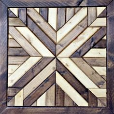 A full tutorial showing how to make a Pottern Barn inspired wood quilt square using only wood and stain.