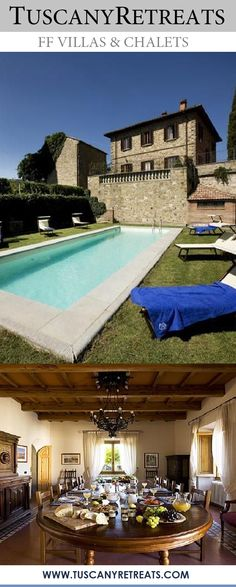 Villa Ariosto || Italy, Tuscany, Province of Florence, Rufina, 10 - 14 persons, private pool Villa Ariosto ia an ancient farmhouse set amid the hills in the heart of Chianti Rufina and made up of beautiful square shaped manor villa with stone walls which have been built above the foundations of the ancient Cerchi Castle. #tuscanvillas #italianvillas #travel #travelitaly #vacation # holiday #weddings #grouptravel #wanderlust #reiselust #florence #rufina #tuscany