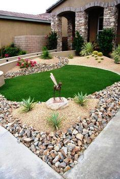 100 Gartengestaltung Bilder Und Inspiriеrende Ideen Für Ihren Garten    Garten Gestalten Rasen Kieselsteine Dekoideen Haus