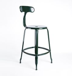 Nicolle Counter Stool with Back - | Rejuvenation - Pantry stool - Green