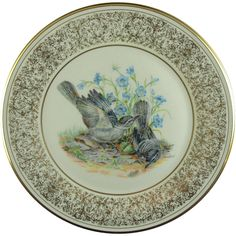Lenox China Boehm Birds Limited Edition Mockingbirds.