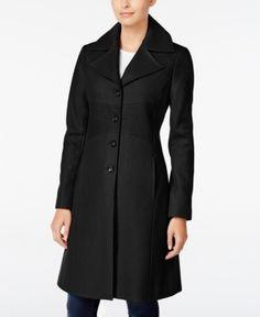 Tommy Hilfiger Wool-Blend Walker Coat - Black XL