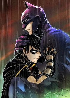 Batman and Robin by穀雨: