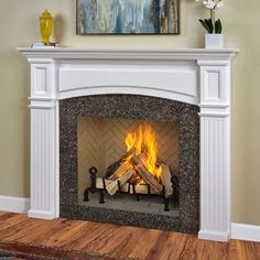 The Monarch Wood Fireplace Mantel Surround is made of beautiful and durable woods. This Wood Fireplace Mantel can be finished or left unfinished for staining. Wooden Fireplace Surround, Fireplace Mantel Surrounds, Marble Fireplace Mantel, Build A Fireplace, Custom Fireplace, Fireplace Remodel, Fireplace Design, Simple Fireplace, Chimney Decor