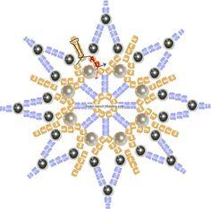 Картинки по запросу bead snowflake pattern