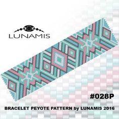 Peyote bracelet pattern peyote pattern by LunamisBeadsPatterns