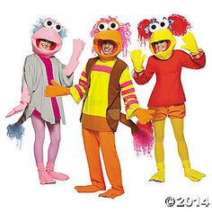 Dance your cares away, worries for another day! Let the music play in these Fraggle Rock Group Costumes! If you enter a costume contest it will be a dozer... ...