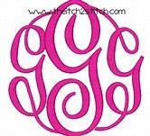 Image result for Free Monogram Fonts Circle