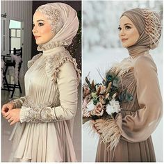 Hijab Evening Dress, Hijab Dress Party, Hijab Style Dress, Hajib Fashion, Women's Fashion Dresses, Dress Drawing, Drawing Clothes, Prom Dresses With Sleeves, Muslim Girls