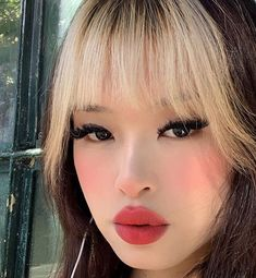 ✰ xhoneycloudsx ✰ Colored Bangs, Dying My Hair, Trending Haircuts, Aesthetic Hair, Portrait Shots, Pretty Makeup, Image Photography, Cut And Color, Hair Inspo