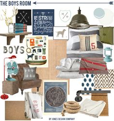 the boys' room {design board}