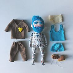 Excited to share this item from my shop: Cloth doll Baby Beardy with tattoos, mustache and blue beard - Hipster doll - Home decor - Interior design - Collectible doll Textiles, Hipster Beard, Doll Home, Hipster Babies, Soft Dolls, Stop Motion, Plush Dolls, Fabric Dolls, Moustache