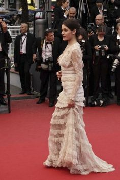 Elie Saab lace Gown @ Cannes Film Festival 2013 - Opening Ceremony - The Great Gatsby Red Carpet #fashion