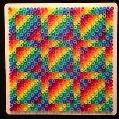Rainbow perler bead design by jonsmod