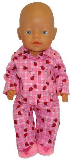 Baby Born pyjamas pink ladybug