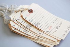 TearOff Manila Tags  oversize hang tags by CaliforniaCraft on Etsy, $3.50