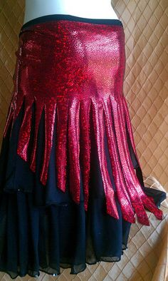 Hot Lava Skirt combines two colors to emulate lava flowing down a mountain. Ballerina Clothes, Dance Program, Belly Dance Outfit, Dance Instructor, Belly Dancers, Dance Outfits, Dance Costumes, New Day, Lava