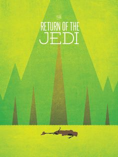 Star Wars: The Return of the Jedi (Star Wars trilogy minimalist poster art) | By: Ryan McArthur, via GeekTyrant (#returnofthejedi #starwars)