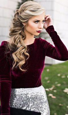 18 Elegant Hairstyles for Prom: #16. Side Swept Loose Braid