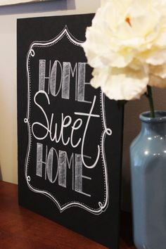 Home Sweet Home chalk board sign by Sweetpeasparty on Etsy, $16.00