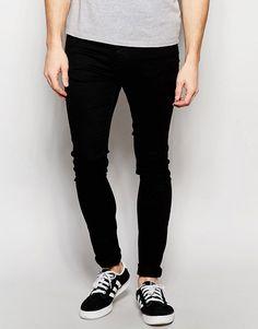 Pull&Bear | Pull&Bear Super Skinny Jeans In Black