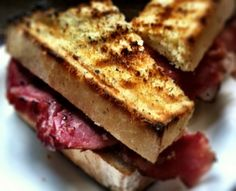 Grilled, not Griddled, ham sandwich - not your mama's panini.