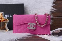 Samsung Galaxy S5 Chanel Cross Body Chain Case Covers Rose Free Shipping - Deluxeiphonecase.com