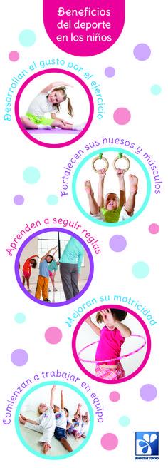 Beneficios del deporte en los niños #Deportes #Salud #Niños