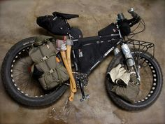 """packconfig: """" Bike Pack: Lee Kinder Here is a great pack config of a bike pack set up by Lee Kinder. I love how all redundant space in the Moonlander bike has been used for storage. Plus with the..."""