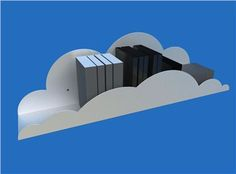 Hylla Cululus cloud shelf. new meaning to the floating shelf.
