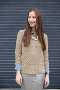 M Loves M: chunky knits + sequins