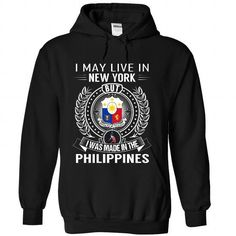 I May Live in New York But I Was Made in the Philippine - #tshirt necklace #hollister hoodie. PRICE CUT => https://www.sunfrog.com/States/I-May-Live-in-New-York-But-I-Was-Made-in-the-Philippines-euyxxyvwaw-Black-Hoodie.html?68278