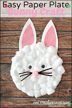 4c6241be8bd89a Easy Paper Plate Bunny Craft for Kids. Extraordinary for creatiting a  simple Easter art for