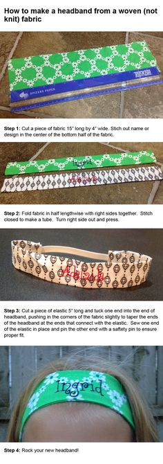 How to make a headband from a woven fabric