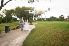 Wedding by Drone at Feather Sound Country Club, Clearwater, FL http://celebrationsoftampabay.com/photographers-in-clearwater/