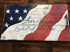 Your place to buy and sell all things handmade 4th July Crafts, Fourth Of July Decor, 4th Of July Decorations, American Flag Decor, American Flag Wood, Americana Crafts, Patriotic Crafts, Wooden Projects, Wood Crafts