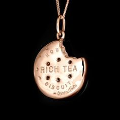 Limited edition of 130 Gavin Turk Biscuit pendant – Rose Gold Plated £350.00