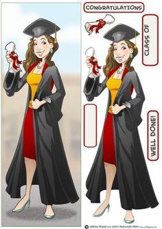 Graduation Lady Brown Hair Large DL on Craftsuprint designed by Gordon Fraser - Congratulations all round for this graduate as shes passed her final exams! Easy to make large, DL version with decoupage, blank and sentiment tiles. More versions of this lady are available. Don't forget to check out my other original designs and Dudes, just click on my name. Thanks for looking! - Now available for download!
