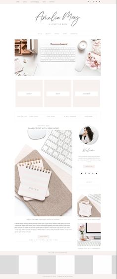 Template Wordpress feminino para blogueiras; Template Feminino para blogueiras no Wordpress; tema WordPress feminino para bloggers; feminine wordpress theme inspiration; #wordpresstheme #blogueira #dicasparablogs