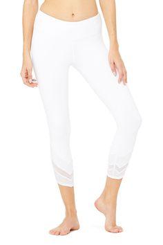Edge Capri - White/White Glossy/White at ALO Yoga