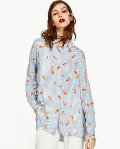 Image 4 of OVERSIZED PRINTED SHIRT from Zara