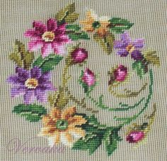 This Pin was discovered by Ami Cross Stitch Heart, Cross Stitch Borders, Cross Stitch Flowers, Cross Stitch Designs, Cross Stitching, Cross Stitch Patterns, Hand Embroidery Stitches, Cross Stitch Embroidery, Needlepoint Canvases
